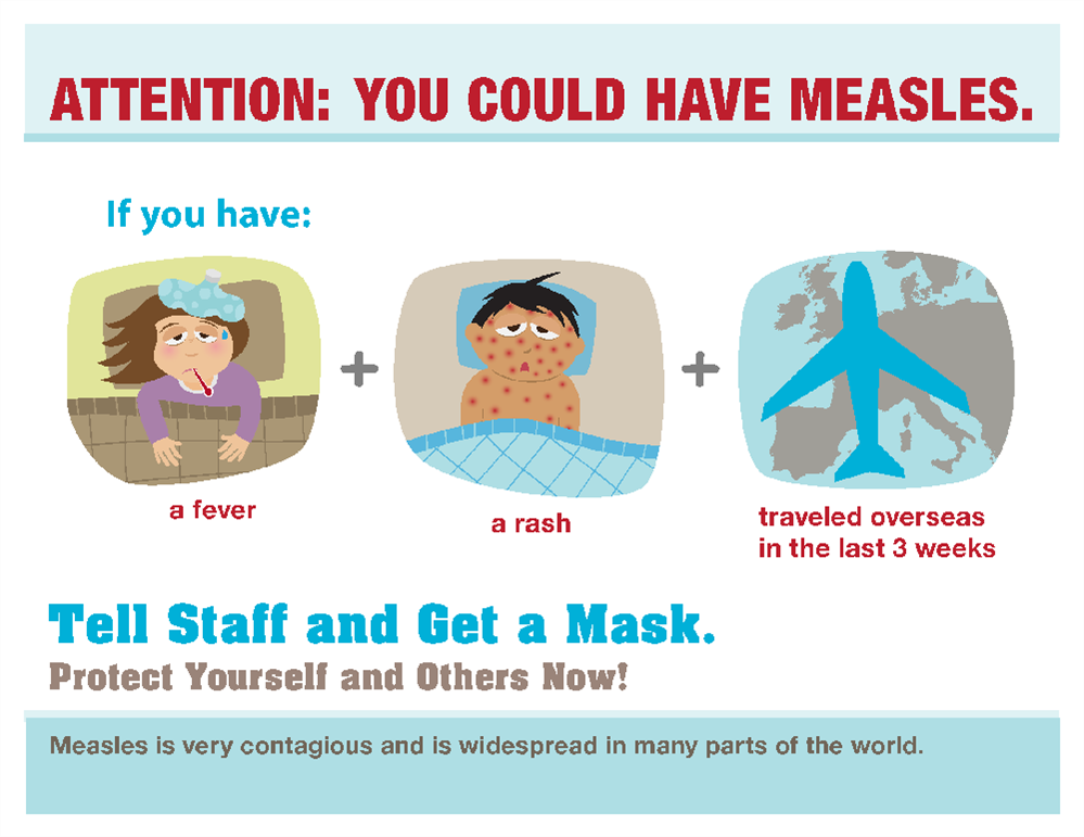 """Attention: You Could Have Measles"" Poster"