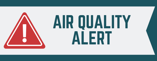 "Banner that says ""Air Quality Alert"""
