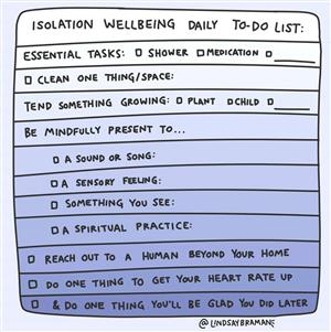Isolation Well-Being Daily To Do List