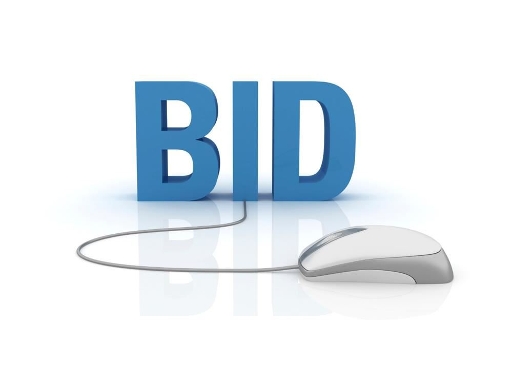 Bid with computer mouse