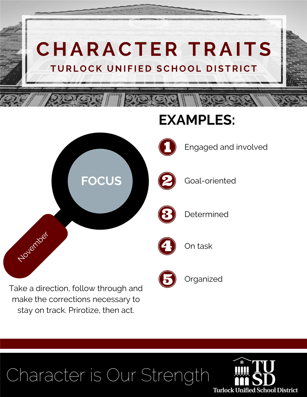 November Character Trait-Focus